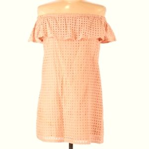 Fashion Union Eyelet Tunic with Ruffle Size 6